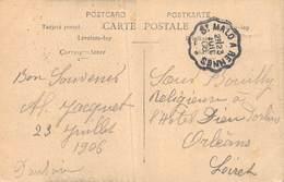 PIE-20-FD-690 : CACHET AMBULANT SAINT-MALO A RENNES. 23 JUILLET 1906. CARTE POSTALE PONT ROULANT SAINT-MALO. - Postmark Collection (Covers)