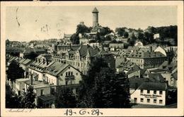 Cp Auerbach Im Vogtland, Blick über Die Dächer Der Stadt, Turm, Restaurant, Inh. A. Lauchner - Deutschland