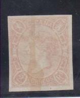 Año 1865 Edifil 72 2r Sello Isabel II  Matasellos Tachado Con Tinta Marquilla  A. Roig En El Reverso - Used Stamps