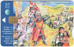 CYPRUS A-738 Chip Telecom - Cartoon, Historic Scene - Used - Cyprus