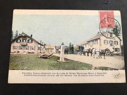 CPA 1898 Frontière Franco-allemande Sur La Route De St Die Attelages - Saint Die