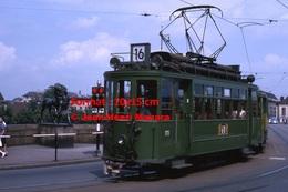 Reproduction D'unePhotographie D'un Tramway Ligne 16 B.V.B à Bâle En Suisse En 1965 - Reproductions