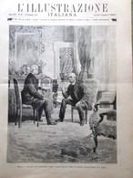 L'Illustrazione Italiana 16 Novembre 1890 Spilla Nera Caprivi Crispi Burton Amor - Vor 1900