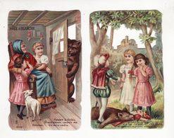 Chromo   CHOCOLAT DE L'UNIVERS    Lot De 2    Rose Et Blanche - Schokolade