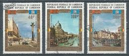 Cameroun Poste Aérienne YT N°197/199 Sauvegarde De Venise UNESCO Oblitéré ° - Kameroen (1960-...)