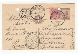 Italy Postal Stationery Postcard Posted 1926 Pirano (Piran) B200601 - Slovenia