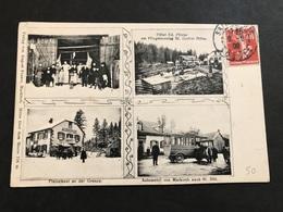 Cpa 1900/1920 St Die Frontière Multivues Automobile Commerces - Saint Die