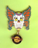 Pin's Hard Rock Café Dallas Papillon Crâne - HRC49 - Musique