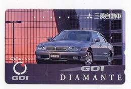 JAPON TELECARTE MITSUBISHI GDI DIAMANTE - Auto's
