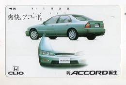 JAPON TELECARTE HONDA CLIO ACCORD - Auto's