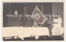 Klaipėda, Lietuvos Miškininkų Sąjunga (užrašas Ant Vėliavos), Apie 1930 M. Foto. - Litouwen