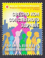Macedonia 2009 Cancer Red Cross Croix Rouge Rotes Kreuz Tax Charity Surcharge, MNH - Macedonia