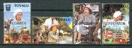 Tuvalu 1988 10th Anniversary Of Independence - SPECIMEN - Set MNH (SG 540-543) - Tuvalu
