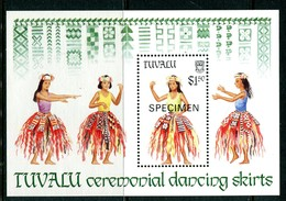 Tuvalu 1989 Traditional Dancing Skirts - SPECIMEN - MS MNH (SG MS553) - Tuvalu