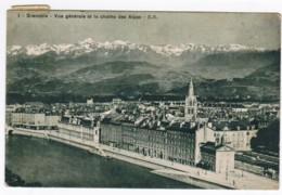 Q650 - Grenoble - Vue Générale Et La Chaine Des ALpes - Grenoble