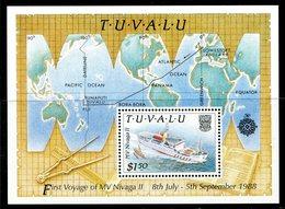 Tuvalu 1989 Delivery Of New Inter-island Ship Nivaga II MS MNH (SG MS563) - Tuvalu