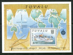 Tuvalu 1989 Delivery Of New Inter-island Ship Nivaga II - SPECIMEN - MS MNH (SG MS563) - Tuvalu