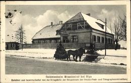 Cp Strasdenhof Riga, Soldatenheim, Schlittengespann - Lettland