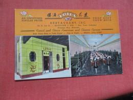 Lotus Chinese Cuisine  Restaurant   Wisconsin > Milwaukee     Ref 4103 - Milwaukee