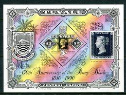 Tuvalu 1990 150th Anniversary Of The Penny Black - SPECIMEN - MS MNH (SG MS577) - Tuvalu