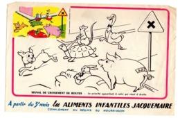 Buvard Aliments JAcquemaire Infantiles Dessins La Seconde Maman Lait Farines - Food
