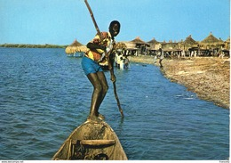 Sénégal.  Piroguier à Fadlouth. Carte Moderne - Senegal
