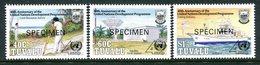 Tuvalu 1990 40th Anniversary Of United Nations Development Programme - SPECIMEN - Set MNH (SG 590-592) - Tuvalu