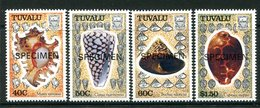 Tuvalu 1991 Sea Shells - SPECIMEN - Set MNH (SG 597-600) - Tuvalu