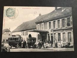 Cpa 1900/1920 Wisembach La Douane Taxi Automobile Devant Le Restaurant - France