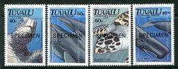 Tuvalu 1991 Endangered Marine Life - SPECIMEN - Set MNH (SG 605-608) - Tuvalu