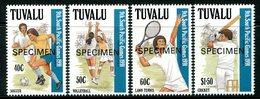 Tuvalu 1991 Ninth South Pacific Games - SPECIMEN - Set MNH (SG 609-612) - Tuvalu