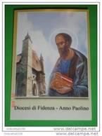 S.PAOLO Apostolo - Veduta Duomo Di FIDENZA,Parma - Anno Paolino 2008 / 9 - Santino - Andachtsbilder