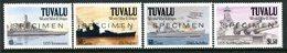 Tuvalu 1991 Second World War Ships - 2nd Issue - SPECIMEN - Set MNH (SG 613-616) - Tuvalu