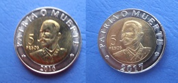 CUBA 2 Coins Of 5 PESOS 2016 And 2017 UNC. ANTONIO MACEO - Cuba