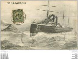 WW Promotion : Navires, Bateaux, Paquebots Et Marine De Guerre. Le STROMBOLI 1920 - Guerra