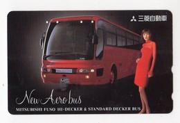 JAPON TELECARTE AUTOCAR MITSUBISHI FUSO HI DECKER - Auto's