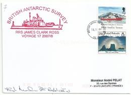 YT 207 Bateau RRS James Clark Ross - YT 220 Iceberg - Posté à Bord - 14/11/2007 - British Antarctic Territory  (BAT)