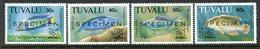 Tuvalu 1992 Kuala Lumpur '92 Philatelic Exhibition - Fish - SPECIMEN - Set MNH (SG 656-659) - Tuvalu