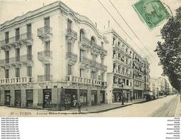 WW Tunisie. TUNIS. Avenue Jules Ferry 1914 - Tunisia