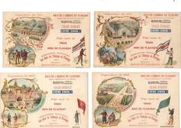 Exposition De 1900.Calendrier Format CPA. Anis De Flavigny-Mongenet-Galimard.Mackenstein.Crème Simon.Craie Robert. - Calendars