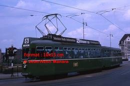 Reproduction D'une Photographie D'untramway B.V.B Ligne 6 Allschwill Avec Publicité Zhilmann Co à Bâle En Suisse 1965 - Reproductions