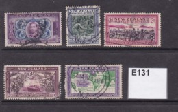 New Zealand 1940 Centennial 5 Values To 6d - 1907-1947 Dominion