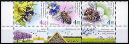 2020 Israel, Fauna, Insects, Bees, Beekeeping, 3 Stamps, MNH - Api