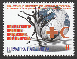 Macedonia 2008 Red Cross Croix Rouge Rotes Kreuz Tax Charity Surcharge, MNH - Macedonia