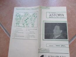 NAPOLI Cinema ASTORIA Foglio Pubblicitario Film Il Medico Della Mutua Alberto Sordi( Foto In Copertina) Bice Valori - Programs