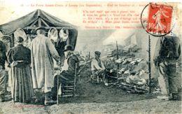 N°9059 -cpa Foire De Lessay (Manche) -étal Du Boucher- - Ferias