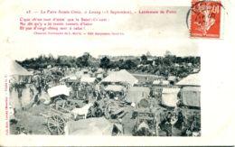 N°9061 -cpa Foire De Lessay (Manche) -lendemain De Foire- - Ferias