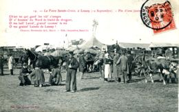 N°9065 -cpa Foire De Lessay (Manche) -fin D'une Journée- - Ferias