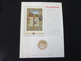"""BELG.1993 2494 (BL68) Filatelic Gold Card NL. 158/500 Exemp. : """" GESCHIEDENIS """" - FDC"""