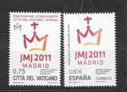2011 MNH Vaticano Mi 1716 + Spain - Unused Stamps